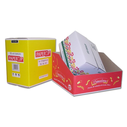 scatole americane e da esposizione con fondi pieni