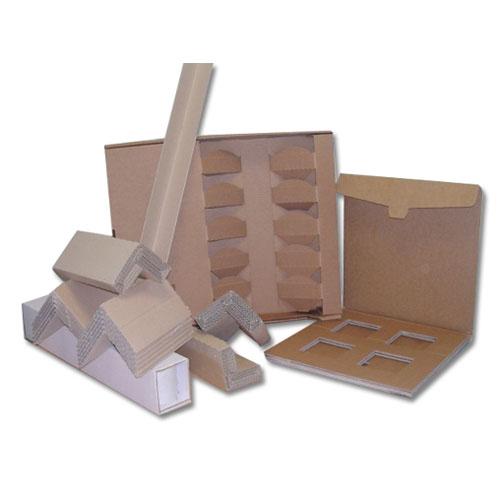 Fustellati particolari, protezioni angolari in multistrato, supporti in cartone ondulato